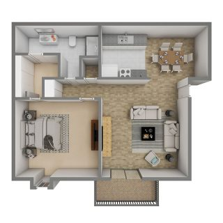 1 Bed / 1 Bath / 750 sq ft / Deposit: $300 / Rent: $610