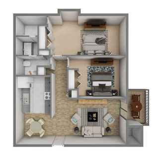 2 Bed / 1½ Bath / 950 sq ft / Deposit: $300 / Rent: $705